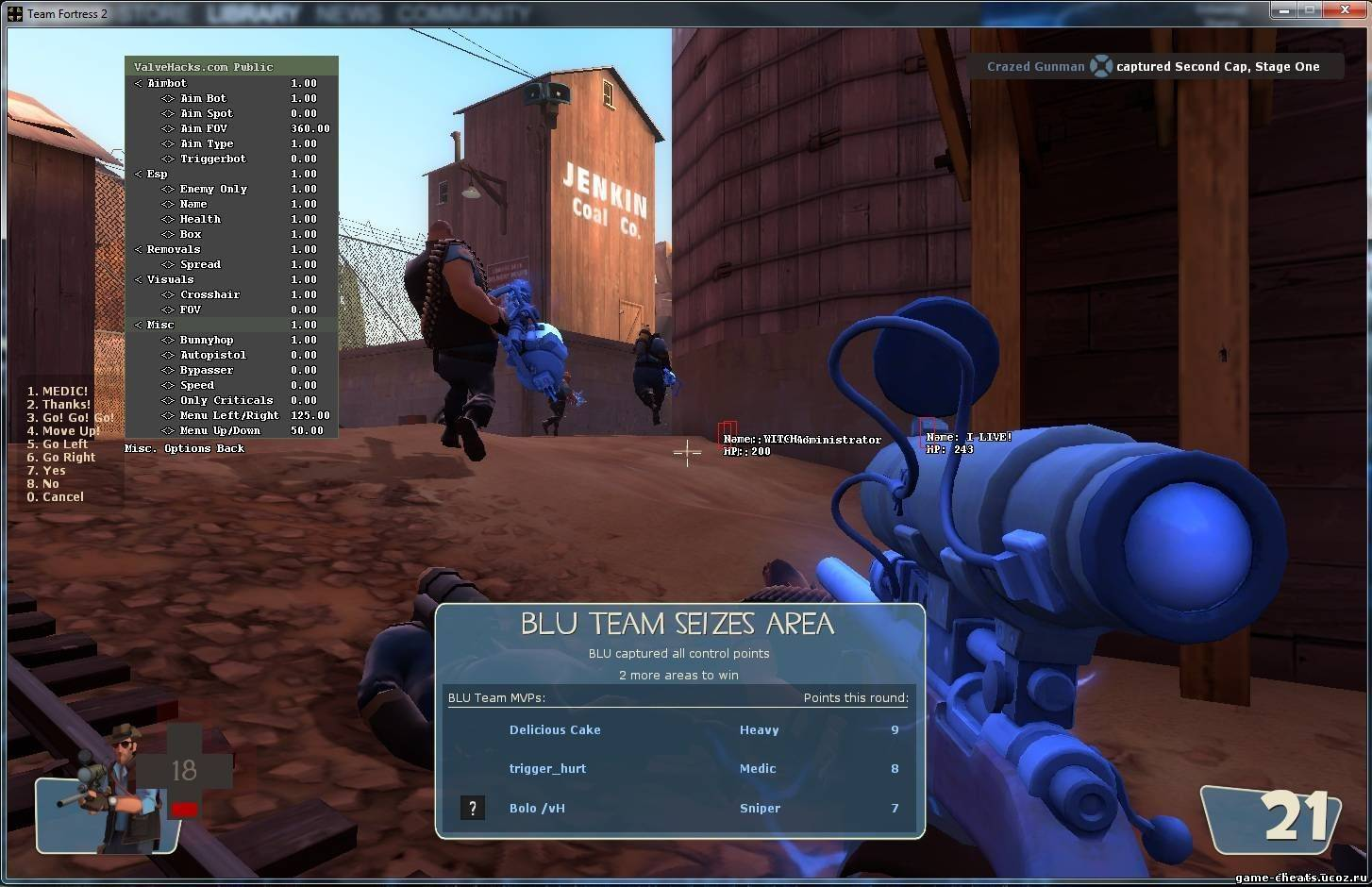 Team Fortress 2 Multi-Cheat 1.8.2011